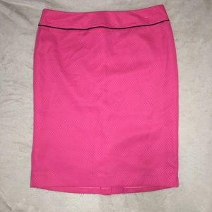 Hot Pink and Black Career Skirt Black Label Evan